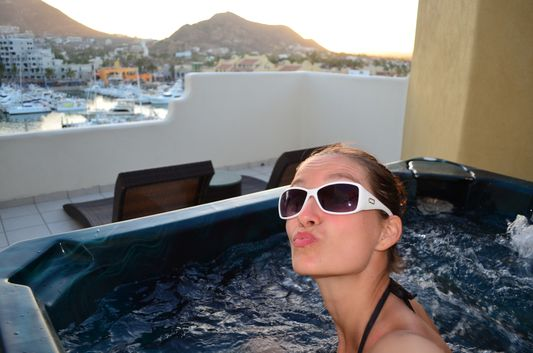 private jacuzzi in Marina Fiesta suite