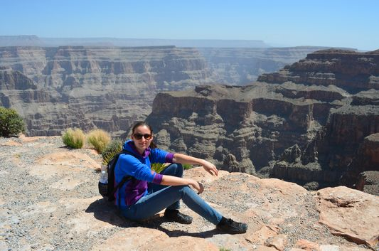 relaxing at Guano Point Grand Canyon West Rim