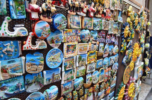 souvenirs in Taormina