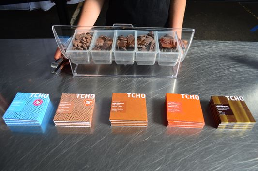 tasting TCHO chocolates