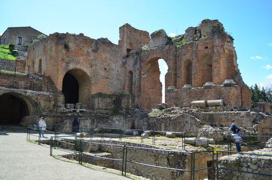 the Greco-Roman amphitheatre in Taormina