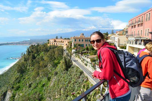 the coast of Taormina is stunning