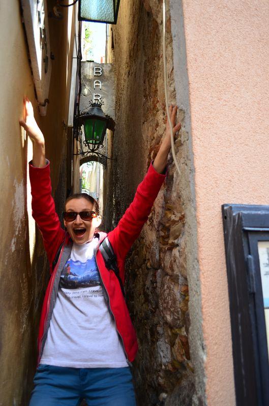 the narrowest street in Taormina