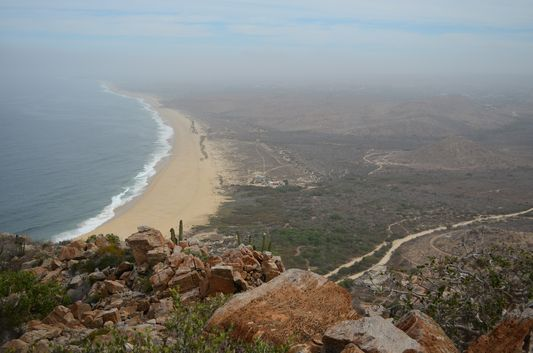 view of Punta Lobos from the highest point