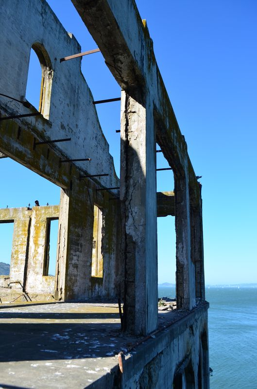 what's left from one of the Alcatraz prison buildings