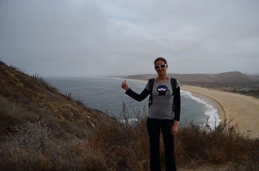 with Punta Lobos behind me