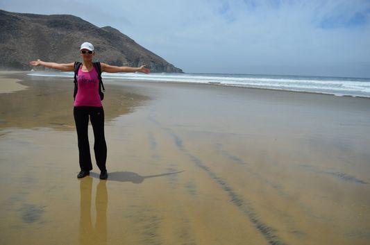 yeah we survived the hike to Las Palmas beach