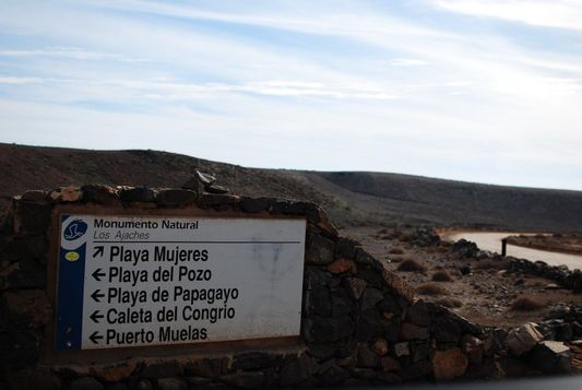 Dirt Track leading to Papagayo Beaches
