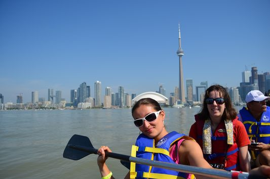 crazy sexy fun traveler paddling Toronto