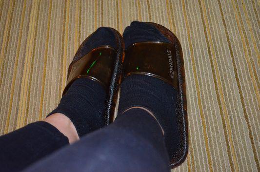 finally changed into sandals at Mandarin Oriental San Francisco spa