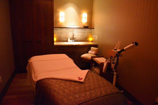my facial treatment room at Mandarin Oriental spa