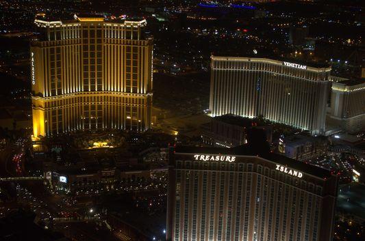 Palazzo, Treasure Island and Venetian in Vegas