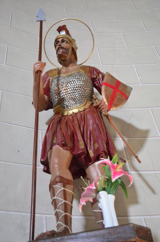 Saint Maurice statue in the church