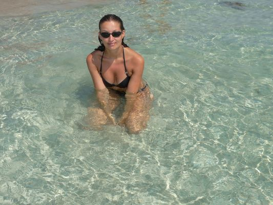 at Porto Cesareo beach in Italy