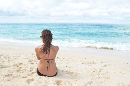 contemplating on Puka beach