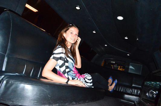 enjoying the limo for myself
