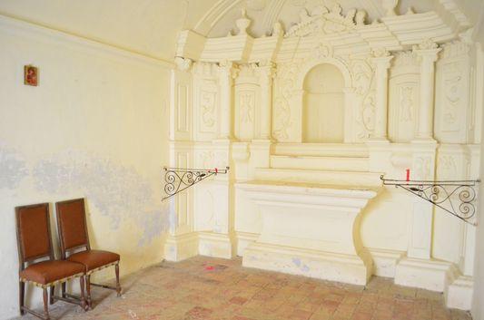 inside Saint Sebastian church in Caldes de Malavella