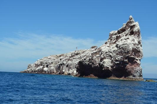 sea lion colony around this rock formations on Isla Espiritu Santo