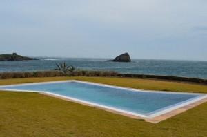unusually shaped swimming pool at Sa Costa villa