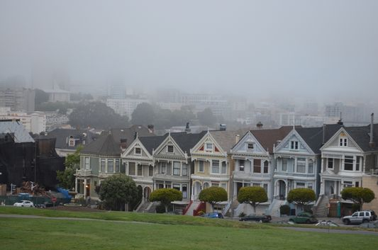 7 Painted ladies in San Francisco