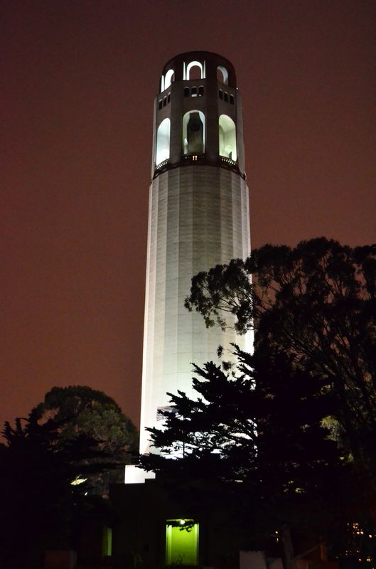 Coit Tower San Francisco at night