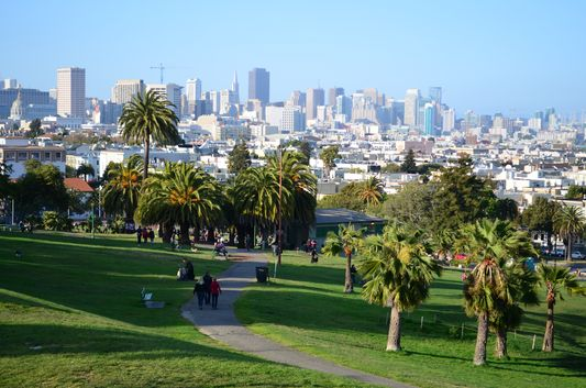 Mission Dolores park in San Francisco