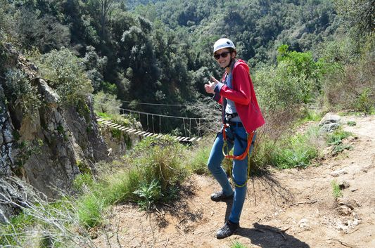 survived the via ferrata in Riera de Salenys