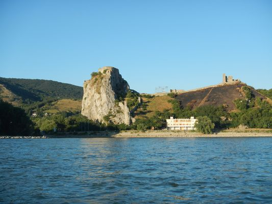 the Devin castle close-up