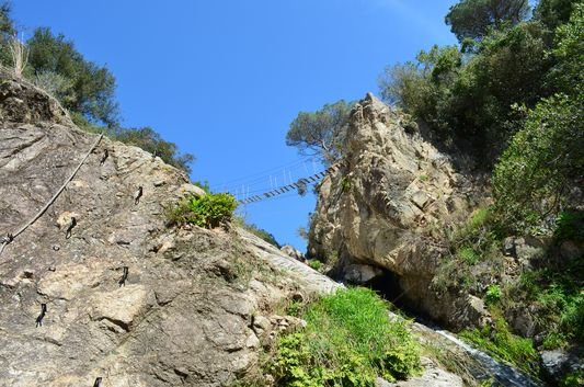 the last via ferrata bridge to cross