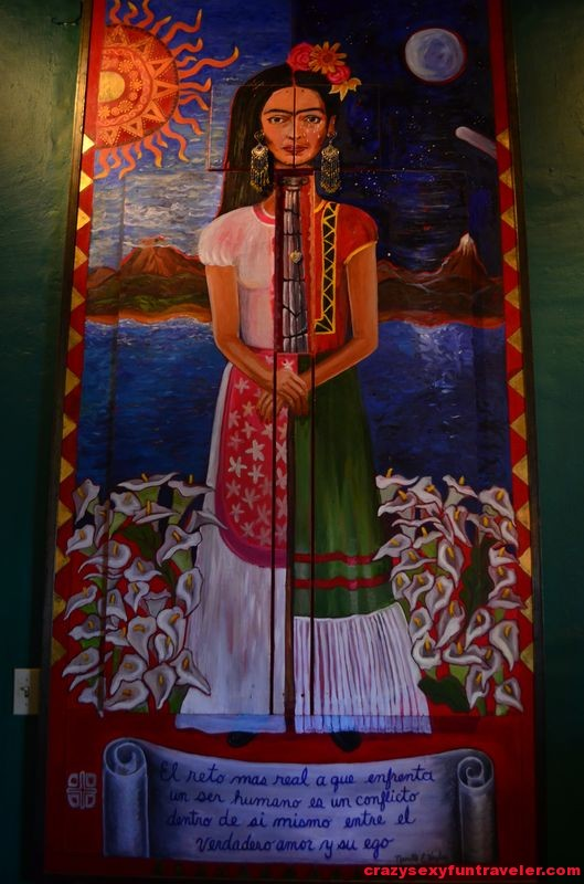 Frida Kahlo painting at the Hotel California reception