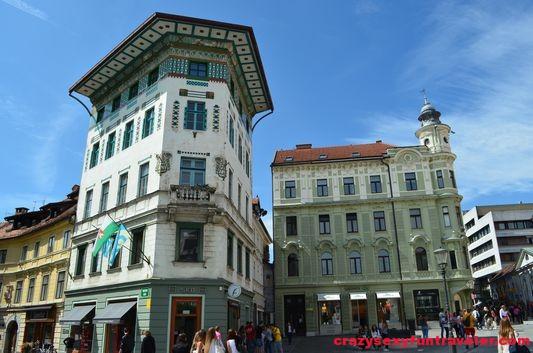 I loved this building at Preserev square in Ljubljana