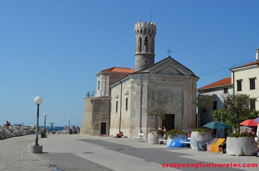 Our Lady of the Health St. Clement's church in Piran