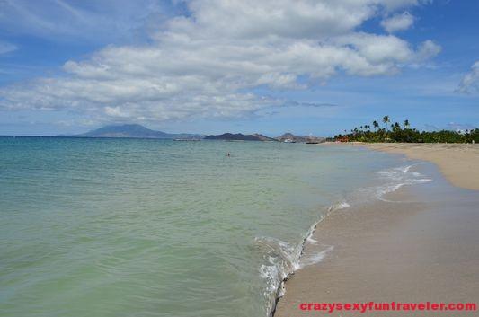 a beautiful beach on Nevis