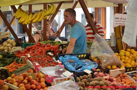 a local market in Piran