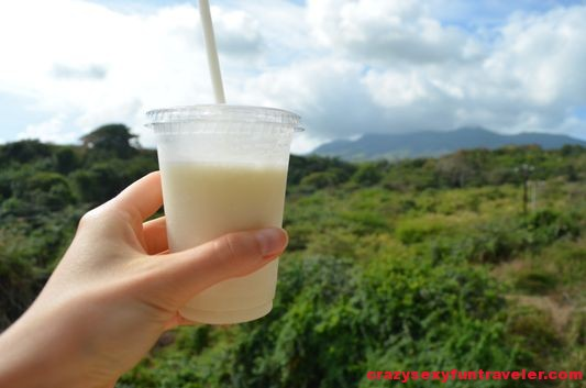 daiquiri on St. Kitts scenic railway