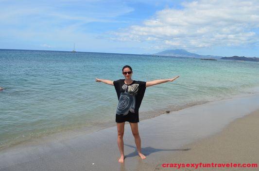enjoying Nevis beaches