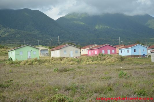 houses under Mount Liamigua