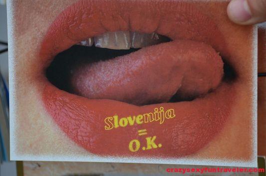 love Slovenija postcard