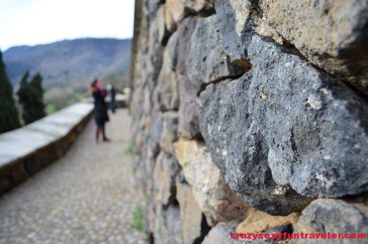 on the way to Santa Pau castle