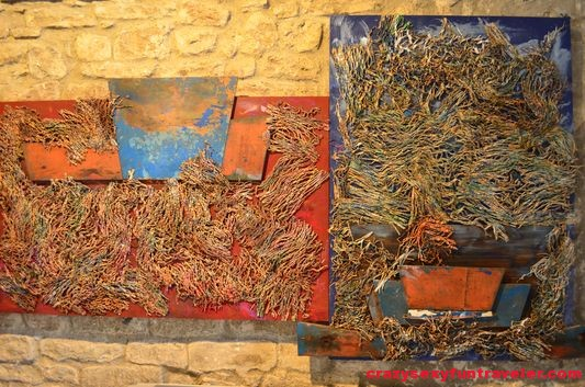 part of temporary exhibition in Sant Salvador in Castellfollit de la Roca