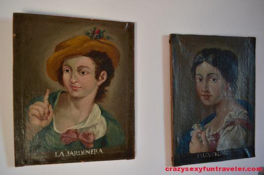 portraits around the castle