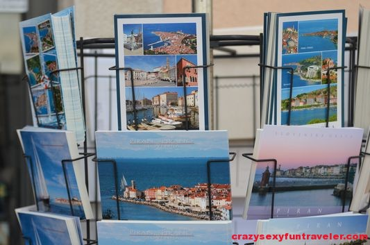 postcards in Piran