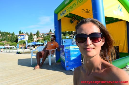 sexy lifeguard behind me