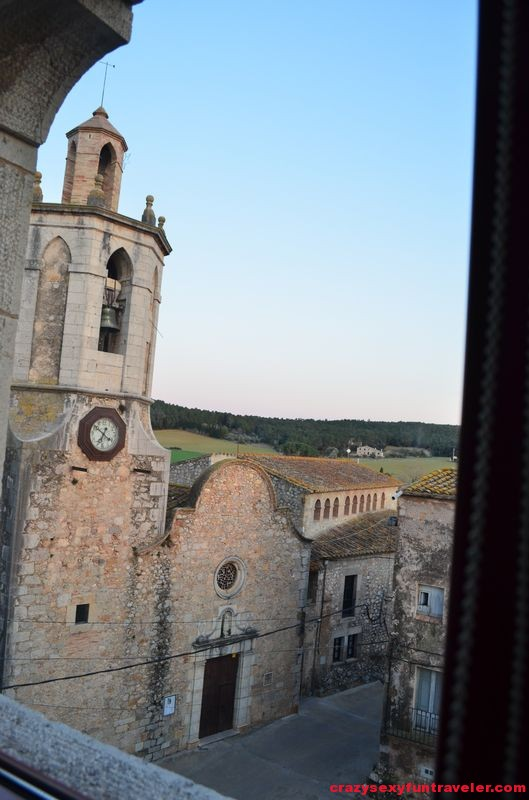 the bell tower from my Castell de Rocaberti window