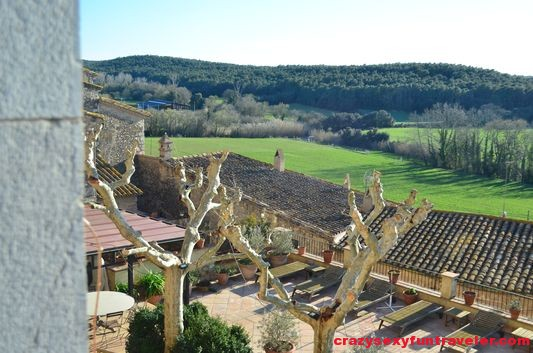 the day view from the living room of Castell de Sant Mori