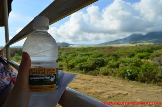 water served on St. Kitts scenic railway