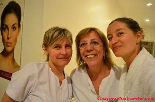 with my sweet spa ladies