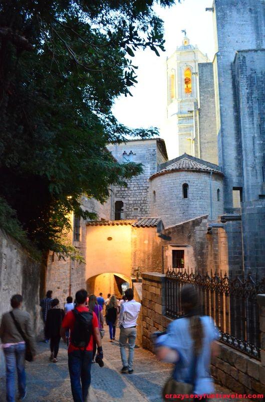 Girona city walls and towers