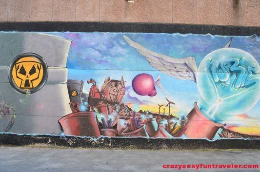 a graffiti wall Girona