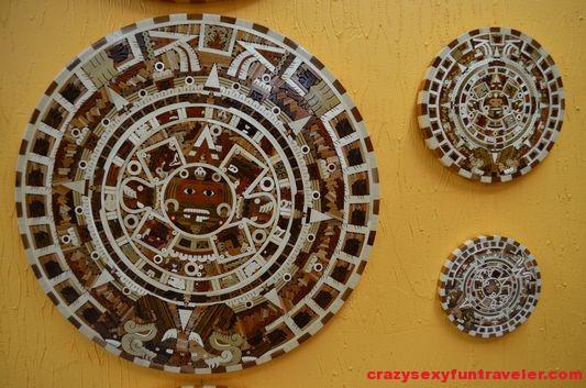beautiful brown Aztec calendars
